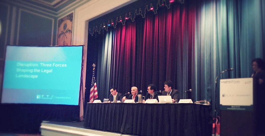 FTI's disruption panel at LegalTech New York 2015