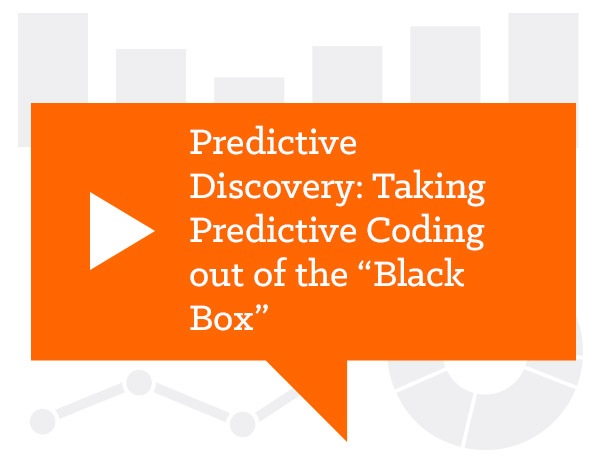 "Predictive Discovery: Taking Predictive Coding out of the ""Black Box"""