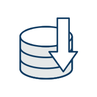 Data reduction icon